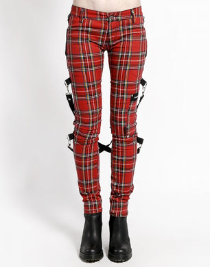 PLAID CHAOS PANT (red)