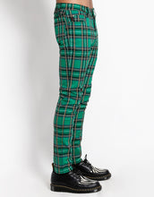 Load image into Gallery viewer, GREEN PLAID ROCKER JEAN