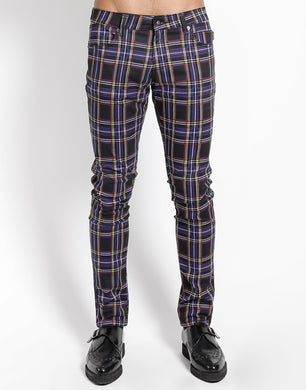 PURPLE PLAID ROCKER JEAN