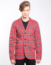 Load image into Gallery viewer, TARTAN TOP CAT BLAZER