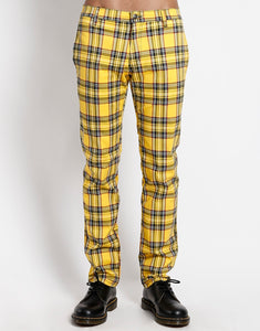 YELLOW PLAID TOP CAT PANT