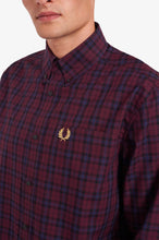 Load image into Gallery viewer, Winter Tartan Long Sleeve (mahogany)