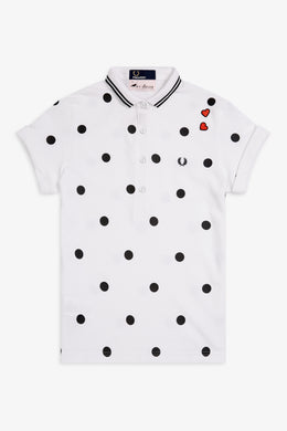Amy Winehouse Polka Dot Polo (white)