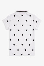 Load image into Gallery viewer, Amy Winehouse Polka Dot Polo (white)