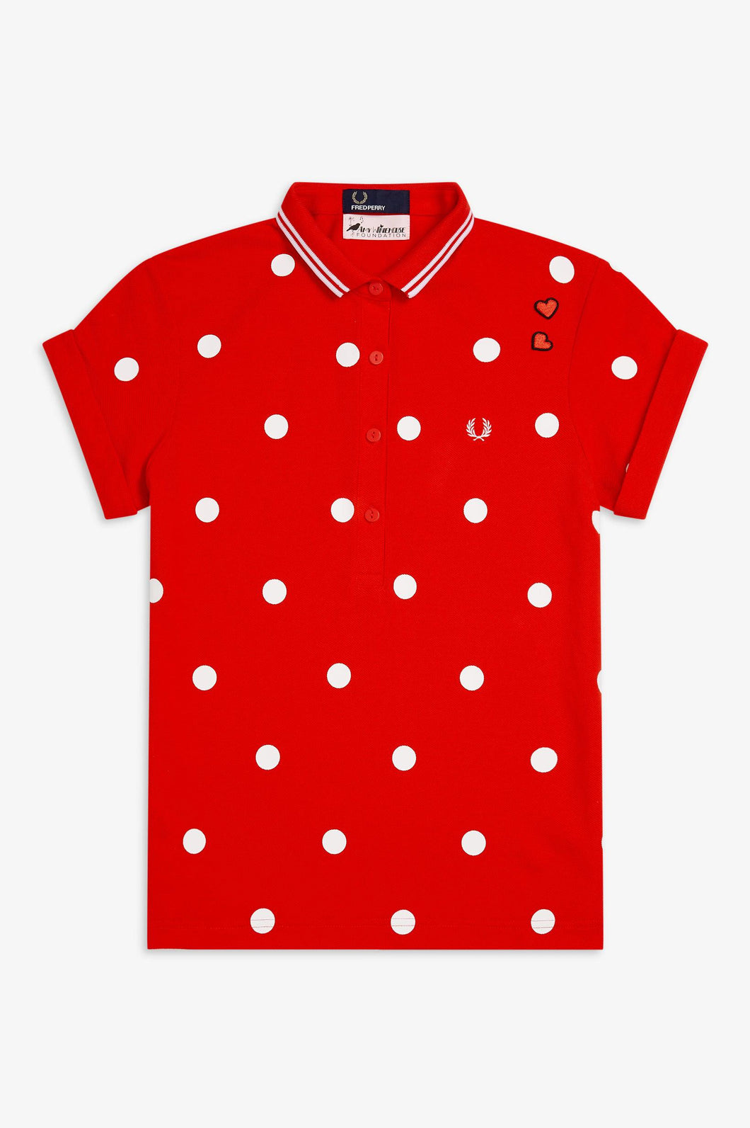 Amy Winehouse Polka Dot Polo (lipstick red)