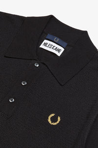 Textured Panel Knitted Shirt by Miles Kane (black)