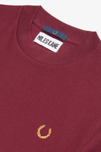 Load image into Gallery viewer, Crew Neck Pique T-Shirt by Miles Kane (aubergine)