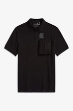 Load image into Gallery viewer, Space Pocket Polo Shirt by Raf Simons (black)