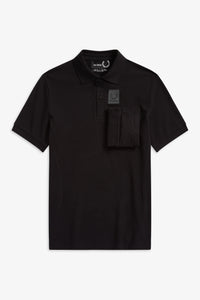 Space Pocket Polo Shirt by Raf Simons (black)