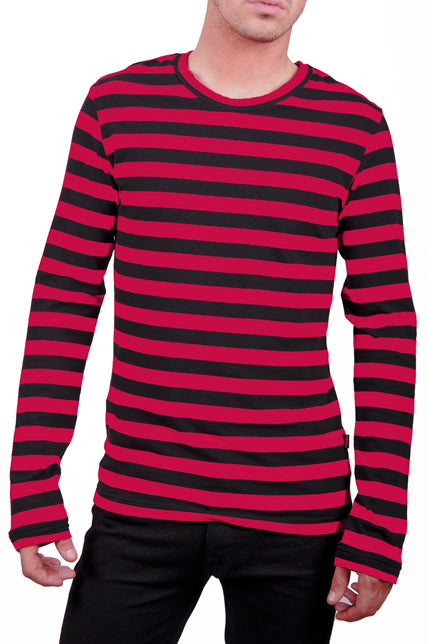 LONG STRIPE (blk & red)