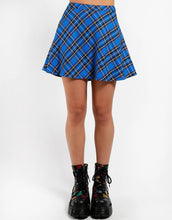 Load image into Gallery viewer, PLAID CIRCLE SKIRT (turq)