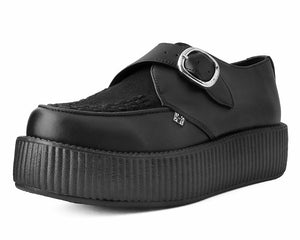 Black Vegan Monk Buckle VIva Low Creeper