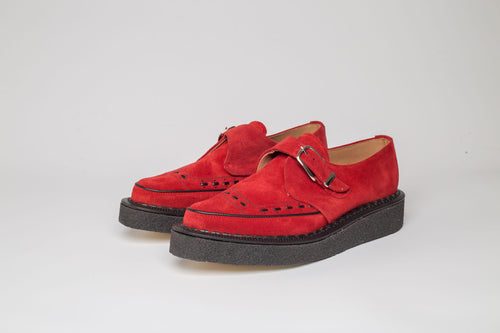 RED SUEDE MONK CREEPER