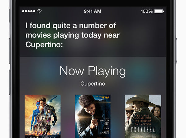 Ask Siri what's playing nearby. You can watch trailers, read reviews, and even buy tickets for some theaters (popcorn not included).