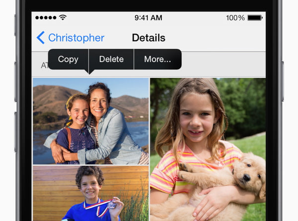 Tap Details, touch and hold a photo, then tap More. Select the photos, then tap Save Images. Now you can view and edit them in the Photos app.