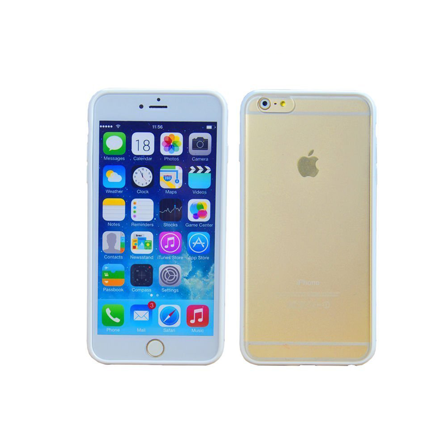 Iphone 5 back png apple iphone 5 16gb - Iphone 6 Plus White Minimalist Hard Shell Protective Case With Clear Frosted Back