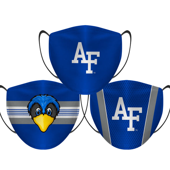 Air Force Falcons - Face Mask - 3 Pack