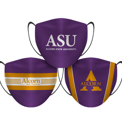 Alcorn State Braves - Face Mask - 3 Pack