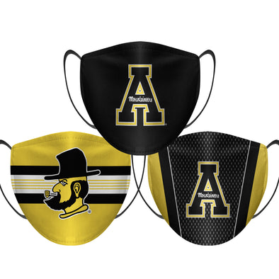 Appalachian State Mountaineers - Face Mask - 3 Pack