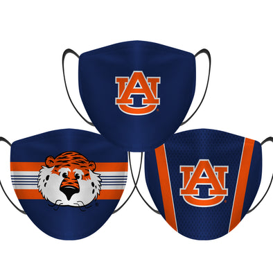 Auburn Tigers - Face Mask - 3 Pack