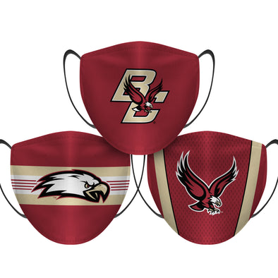 Boston College Eagles - Face Mask - 3 Pack