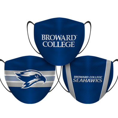 Broward Seahawks  - Face Mask - 3 Pack