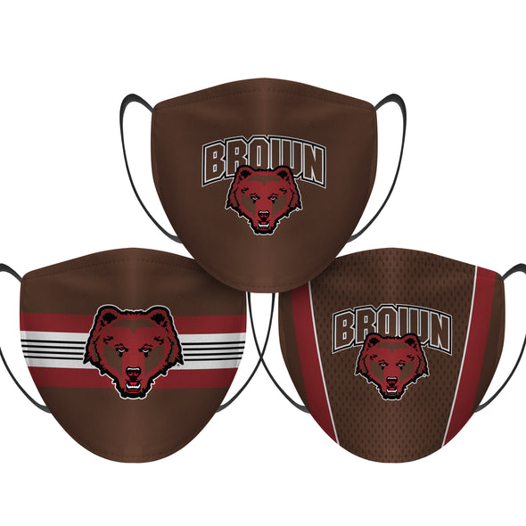 Brown University Bears - Face Mask - 3 Pack