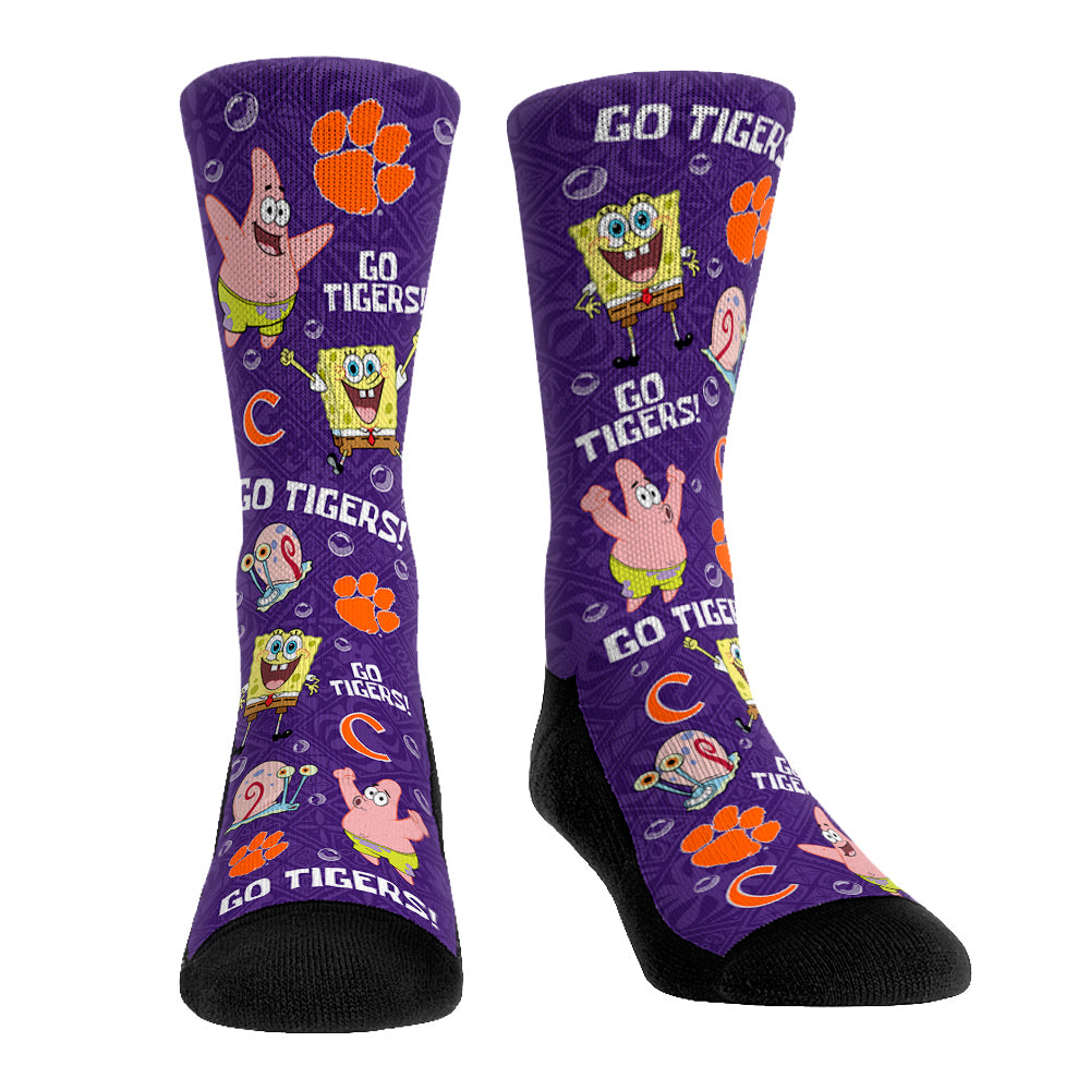 Clemson Tigers - SpongeBob Characters All-Over