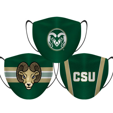 Colorado State Rams - Face Mask - 3 Pack