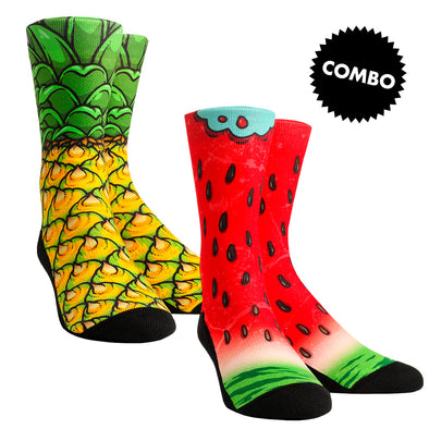 Pineapple & Watermelon Combo Socks