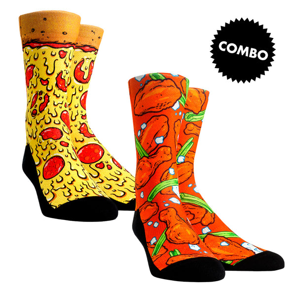 Pizza & Wings Combo Socks