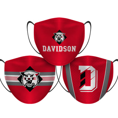 Davidson Wildcats - Face Mask - 3 Pack
