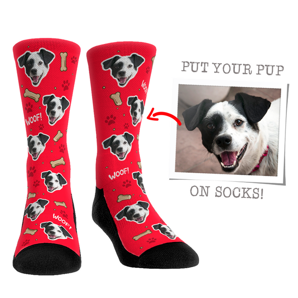 Custom Face Socks - Dog