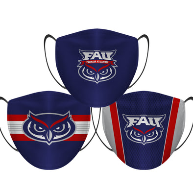 FAU Owls - Face Mask - 3 Pack