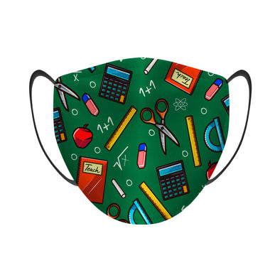 Teacher All-Over Icons - Face Mask