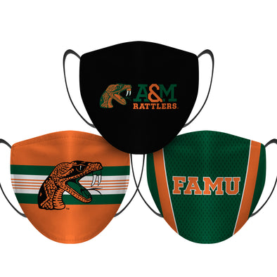 Florida A&M Rattlers - Face Mask - 3 Pack