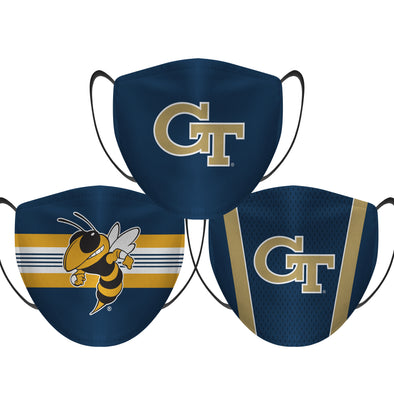 Georgia Tech Yellow Jackets - Face Mask - 3 Pack