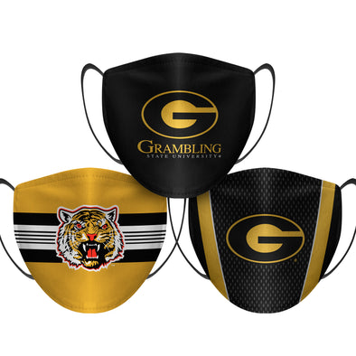 Grambling State Tigers - Face Mask - 3 Pack