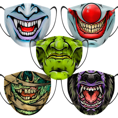 Monster Mash 5 Pack - Face Mask