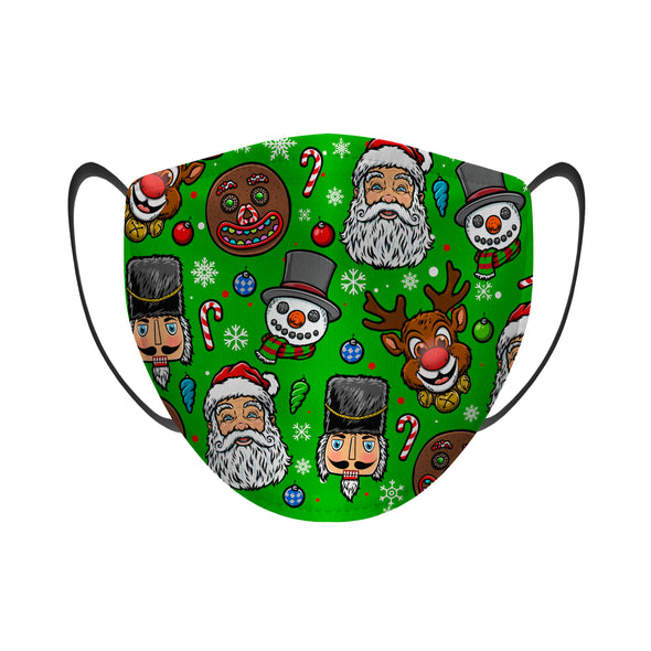 Christmas Characters All-Over - Face Mask