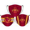 Iowa State Cyclones - Face Mask - 3 Pack