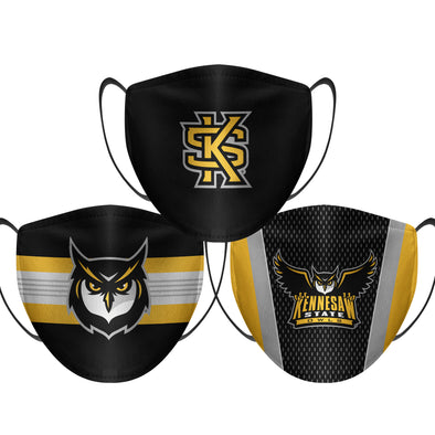 Kennesaw State - Face Mask - 3 Pack