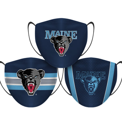 Maine Black Bears - Face Mask - 3 Pack