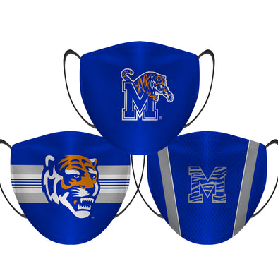 Memphis Tigers - Face Mask - 3 Pack