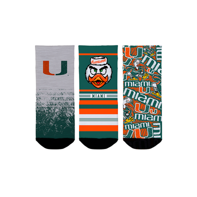 Miami Hurricanes - Toddler 3-Pack (1-2 YR)