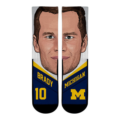 Tom Brady - Michigan Wolverines - College Game Face
