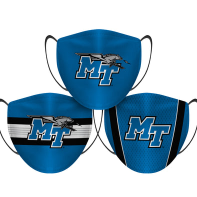 Middle Tennessee State Blue Raiders - Face Mask - 3 Pack