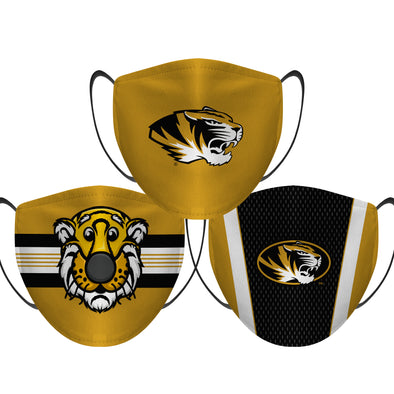 Missouri Tigers - Face Mask - 3 Pack