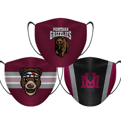 Montana Grizzlies - Face Mask - 3 Pack