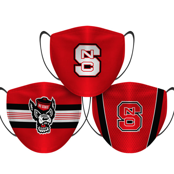 NC State Wolfpack - Face Mask - 3 Pack